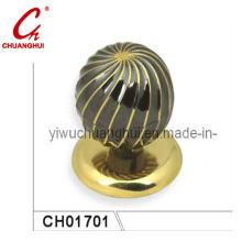 Round Simple Easy Use Steel Zinc Alloy Door Knob Lock Handle (CH01701)
