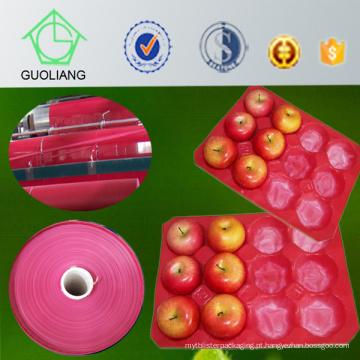 Recipiente da exposição do fruto do polipropileno do uso de 29X39cm Walmarket para Apple fresco que empacota com FDA, certificado do GV
