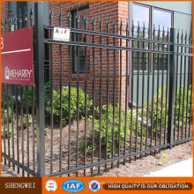 Economic Ornamental Wrought Iron Metal Garden Fence Panel