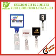 Support escamotable adapté aux besoins du client promotionnel d'insigne