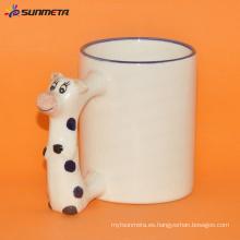 Sublimación Animal en blanco taza de buey