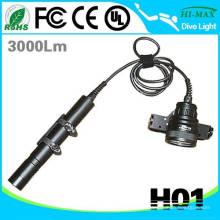 3pcs 26650 Li-ion Battery Goodman handle Led Diving Lampe de poche
