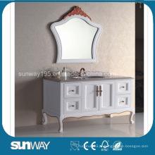 Mobiliário de banheiro antigo estilo europeu com topo de mármore (SW-8014A)
