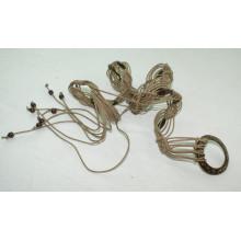 Мода Ручная работа воском шнур плетеные ремни-KL0040