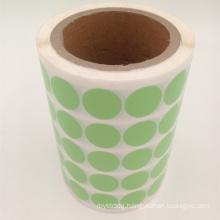 custom printing round adhesive paper sticker label
