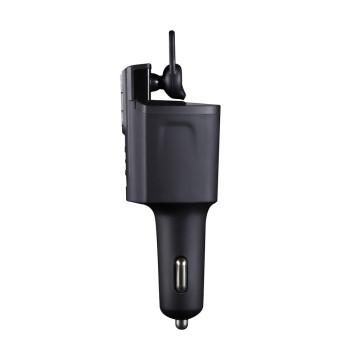 Kit oreillette mains libres pour casque Bluetooth avec chargeur de voiture