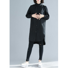 New Autumn Casual Shirt Womens Full Sleeve Loose Cotton Tops