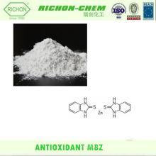 Sustancias químicas de fabricación del proveedor chino CAS NO.3030-80-6 C14H10N4S2Zn 2-Mercaptobenzimidazol sal de zinc ANTIOXIDANTE MBZ