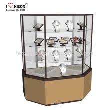 Sie stellen sich vor, wir entwickeln Einzelhandelsgeschäft Moderne Glas-Display-Kabinett-Armband-Schmucksache-Anzeigen-Schaukasten mit einer engagierten Arbeitskraft