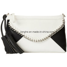 Flashy Tassel Color Block Pattern Ladies Clutch Bag (ZXS0098)
