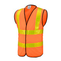 Orange Safety Vest with Crystal Reflective Tapes