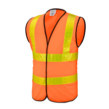 Top for Reflective Safety Vest Orange Safety Vest with Crystal Reflective Tapes export to Barbados Suppliers
