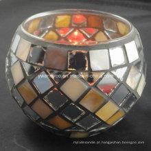 Acender o castiçal de mosaico tealight do mundo