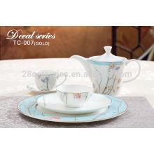 Индивидуальный дизайн костяного фарфора столовый набор, керамическая посуда из фарфора