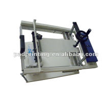 Manual de uma única cor curvada máquina de impressão de seda de garrafa de seda