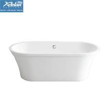 Freistehende Badewanne aus Acryl in Weiß