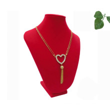 Red Flock MDF Jewelry Necklace Display (NS-RF-47)