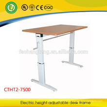 CTHT-7500 Height Adjustable Folding School Desk by Manual Rocker For Students
