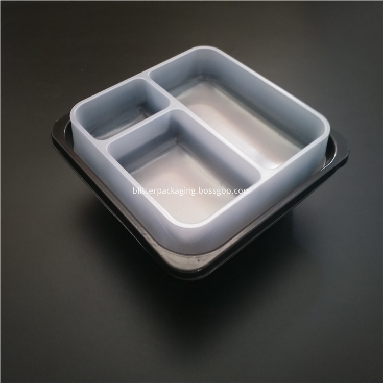 3 section plastic food container