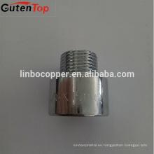 Tubo de latón de alta calidad de GutenTop que coloca el niple de la extensión del cromo de la galjanoplastia de cobre amarillo para las guarniciones de cobre del tubo del cobre del gas y del agua