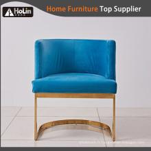 Chaise moderne en acier inoxydable avec tissu