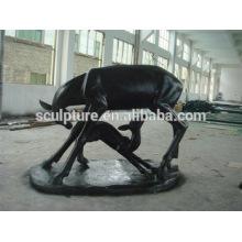 Современные искусства Любовь животных статуя Наружная отделка стекловолокна скульптуры