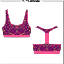 Latest Design Mesh Padded Athletic Roupa Underwear Sutiã