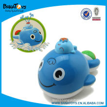 spray water plastic toy whale for baby