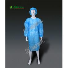 Polypropylene+PE Film Lamination  isolation gown