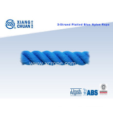 ABS Approved 3 Strand Plaited Blue Nylon Rope