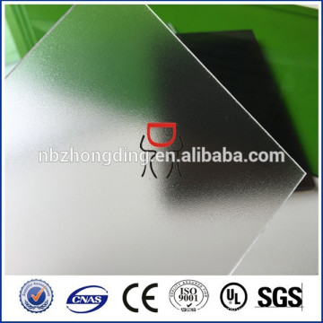 2mm/3mm/4mm/5mm polycarbonate frosted sheet