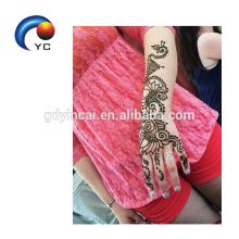 Henna stencils Indian Mehndi estilo etiqueta engomada del tatuaje en forma de mano en la venta caliente decoración del cuerpo suministro
