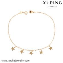 74965 оптовые дешевые ювелирные изделия 18-каратного золота простой дизайн в форме звезды с браслетом для женщин