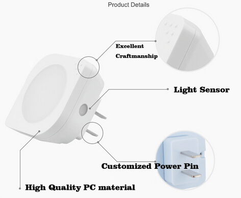 Creative Light sensor control sense light night light