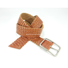 Fashionable Webbing Leather Belt with Nickle-Free Buckle