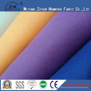 Tissu non-tissé de Spunbond de 100% pp pour des sacs de cadeaux