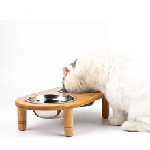 Bamboo Pet Cat Dining Table