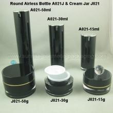 15ml 30ml 50ml Black Round Airless Pump Bottle Black Round C