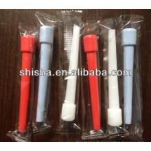 9,5 cm Kunststoff Mund Tipps 100piece Kunststoff Mund spitzen Wasserpfeife Einweg-Mundstück