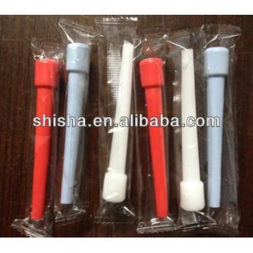 9,5 cm boca plástico dicas 100piece plástico boca dicas do cachimbo de água descartável bocal