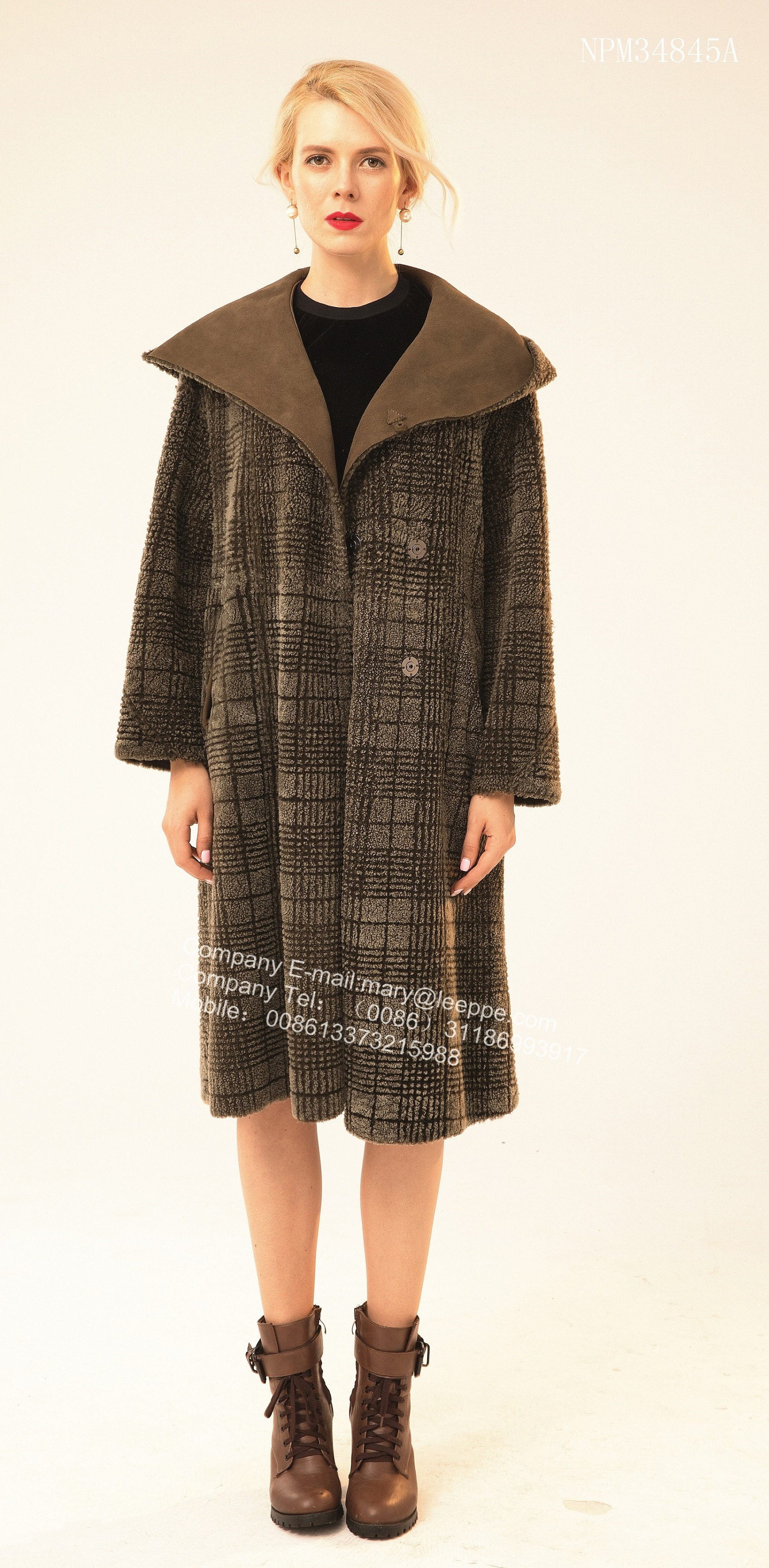 Reversible Shorn Sheepskin Fur Coat