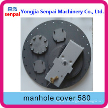 Accesorio de tanque de maquinaria Senpai API 580mm 58cm Alloy Manhole Cover