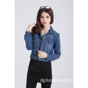 Women Dark Blue Fashion Denim Jacket S141302d