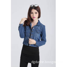 Women Dark Blue Fashion Denim Jacket S141302d
