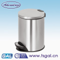 Stainless steel foot pedal waste bin