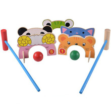Wooden Cartoon Croquet Gate Ball Toy Gift