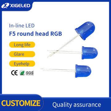 Diodo emisor de luz LED F5 azul pelo azul