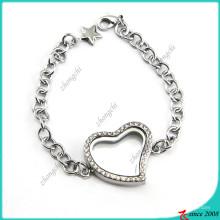 Floating Heart Locket Bracelet for Girl (LB16041202)