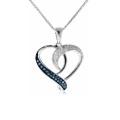 Forme du coeur 925 Pendentifs en argent Ensemble de bijoux