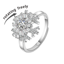 Hot Sale Silver Turn Freely Rings Anxiety Ring